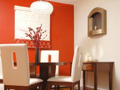 Piros falú étkező - konyha / étkező ötlet, modern stílusban