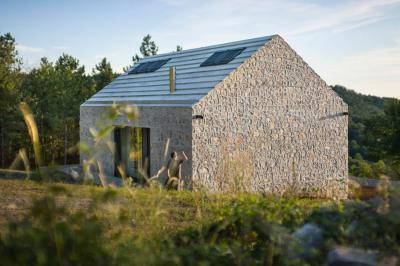 Hagyományos kőház - homlokzat ötlet