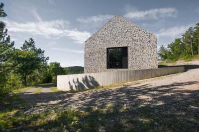 Tájba illő épület - homlokzat ötlet, modern stílusban