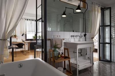Hangulatos fürdőszoba - fürdő / WC ötlet, modern stílusban