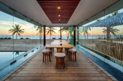 Trópusi veranda - belső továbbiak ötlet, modern stílusban