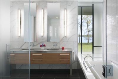 Márvánnyal burkolt fürdő - fürdő / WC ötlet, modern stílusban