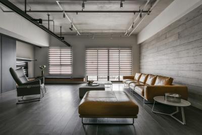 Ipari stílus - nappali ötlet, modern stílusban