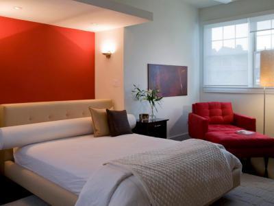 Egy piros falú háló - háló ötlet, modern stílusban
