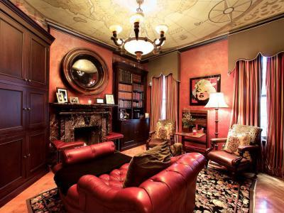 Könyvtárszoba - belső továbbiak ötlet, klasszikus stílusban