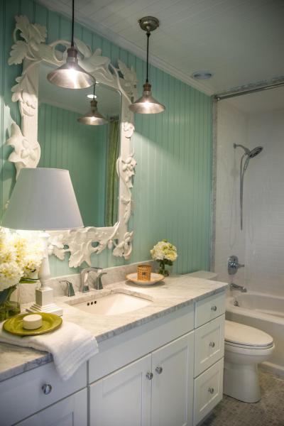 Zöld falú fürdő - fürdő / WC ötlet
