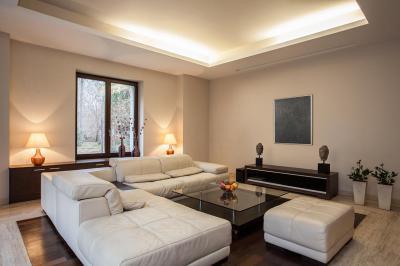Nappali infra fűtéssel - nappali ötlet, modern stílusban