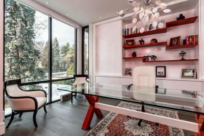 Elegáns dolgozószoba - dolgozószoba ötlet, modern stílusban