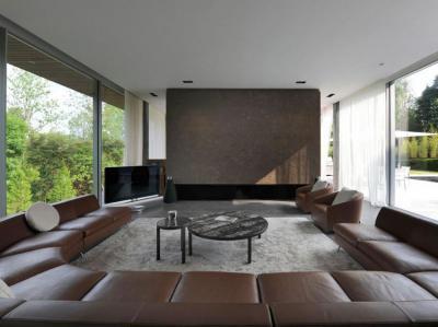 Sarokkanapé a nappaliban - nappali ötlet, modern stílusban