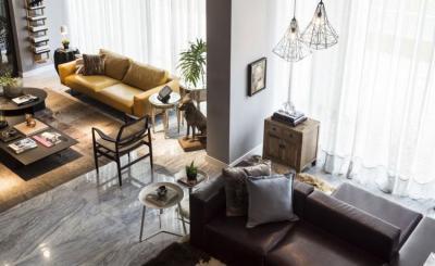 Látványos nappali - nappali ötlet, modern stílusban