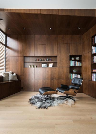 Olvasósarok - nappali ötlet, modern stílusban