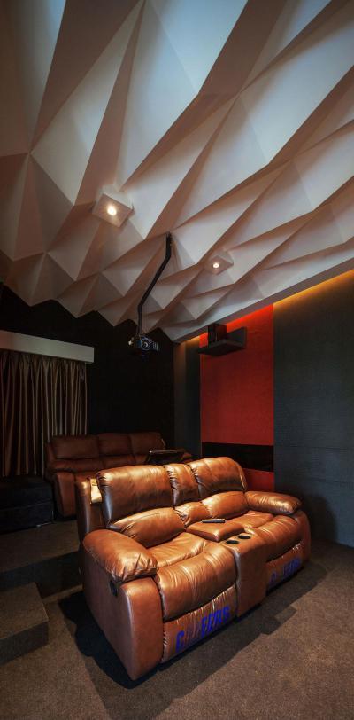 Moziszoba - belső továbbiak ötlet, modern stílusban