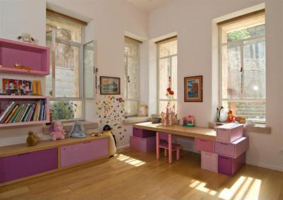 Lila színek a gyerekszobában - gyerekszoba ötlet, modern stílusban