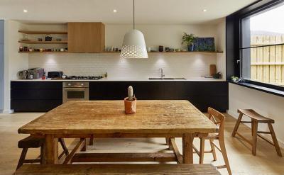 Rusztikus fa asztal - konyha / étkező ötlet, modern stílusban