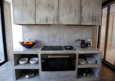 Betonbútor - konyha / étkező ötlet, modern stílusban
