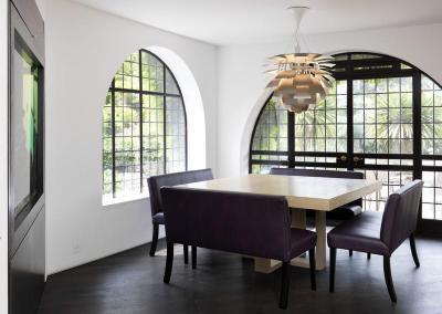 Boltíves ablakok - nappali ötlet, modern stílusban