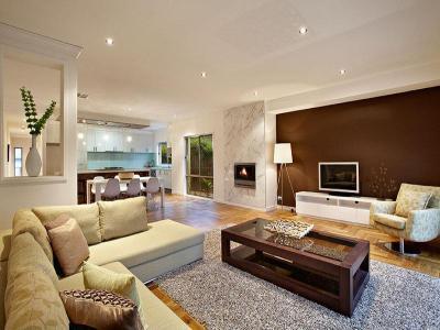 Kandalló a lakás dísze60 - nappali ötlet, modern stílusban