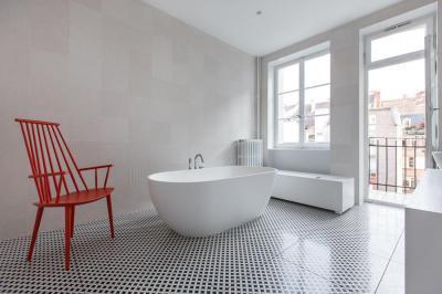 Dekoratív fürdőszoba burkolat - fürdő / WC ötlet, modern stílusban