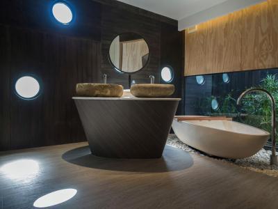 Design fürdő - fürdő / WC ötlet, modern stílusban