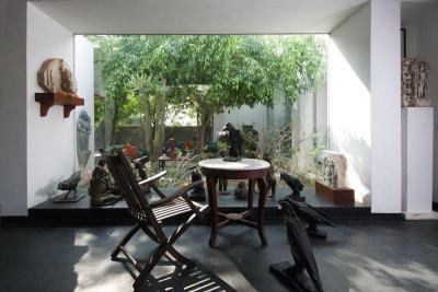 Kilátás a kertre - belső továbbiak ötlet, egzotikus stílusban