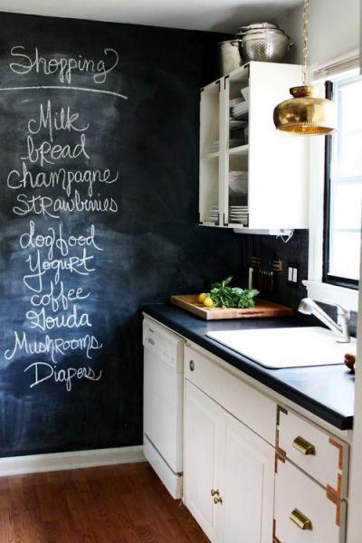 Falra írt bevásárlólista - konyha / étkező ötlet