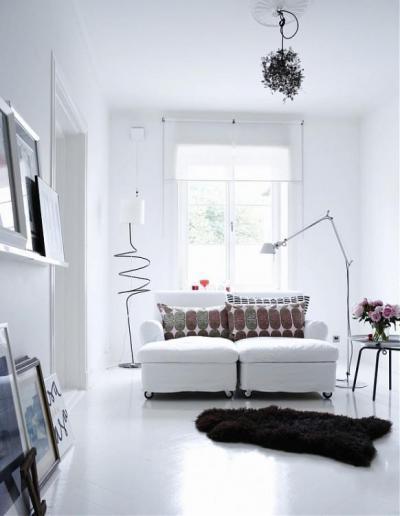 Skandináv nappali részlet - nappali ötlet, modern stílusban