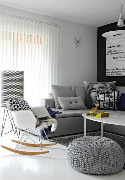 Skandináv nappali részlet2 - nappali ötlet, modern stílusban