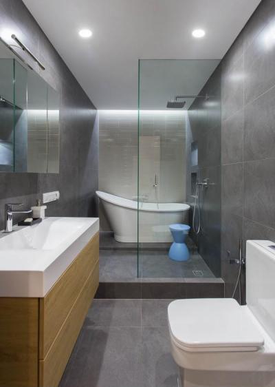 Hosszú és elegáns - fürdő / WC ötlet, modern stílusban