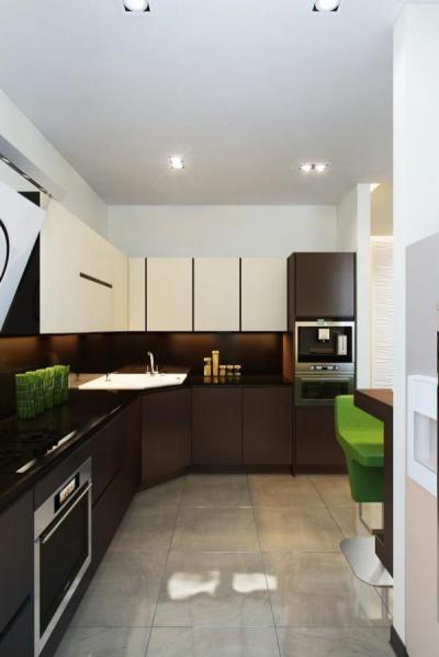Kiwizöld kiegésztőkkel vidáman - konyha / étkező ötlet, modern stílusban