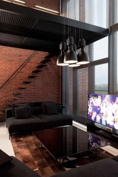 Loft nappali - nappali ötlet, modern stílusban