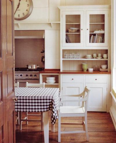 Kockás otthon - konyha / étkező ötlet