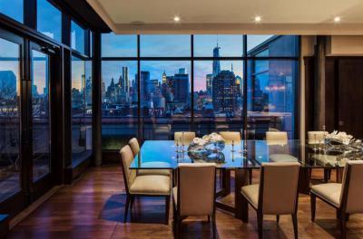 Üveglapos étkezőasztal - nappali ötlet, modern stílusban