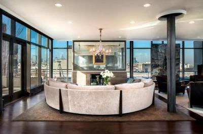 Körkanapé - nappali ötlet, modern stílusban