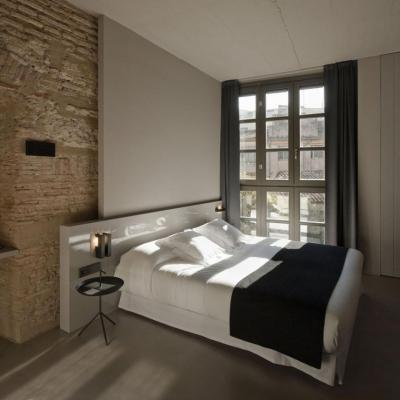 Modern és rusztikus hálószoba - háló ötlet, modern stílusban