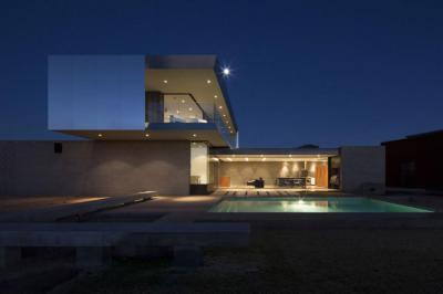 Geometrikus formák - homlokzat ötlet, modern stílusban