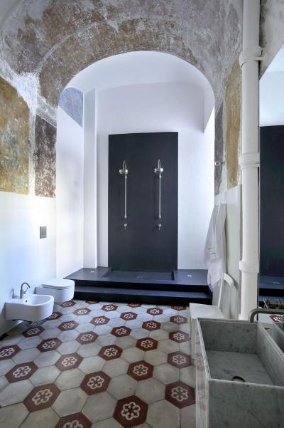 Régies mediterrán fürdő - fürdő / WC ötlet, mediterrán stílusban