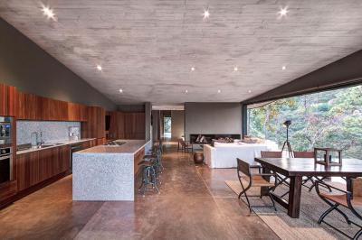 Konyha nappalival és terasszal - konyha / étkező ötlet, modern stílusban