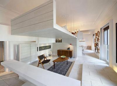 Sok fehér a nappaliban - nappali ötlet, modern stílusban