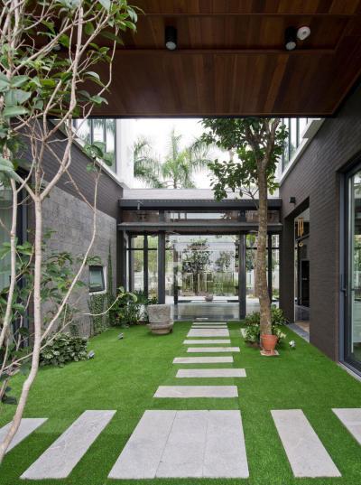 Belső kert - külső továbbiak ötlet, modern stílusban
