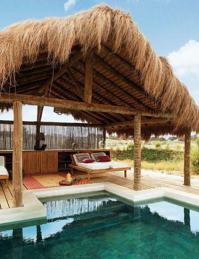 Fedett terasz a trópusokon - erkély / terasz ötlet, egzotikus stílusban