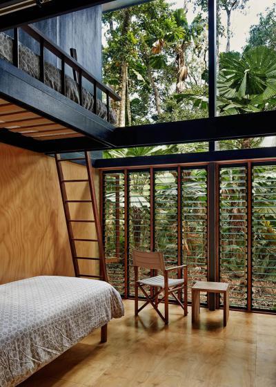 Galéria a hálószobában - háló ötlet, modern stílusban