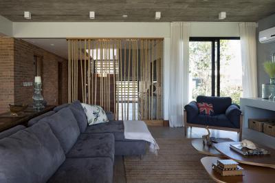 Nappali látszóbetonnal - nappali ötlet, modern stílusban