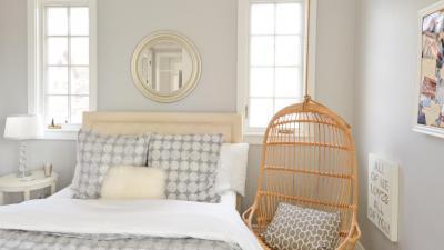 Szürke-fehér háló - háló ötlet, modern stílusban