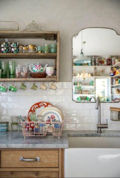 Vintage csészés eklektika - konyha / étkező ötlet