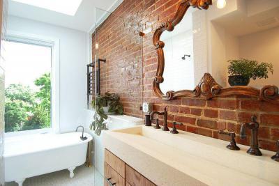 Modern és vintage - fürdő / WC ötlet, modern stílusban