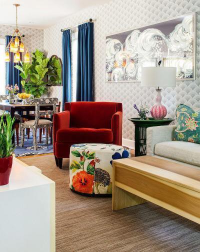 Modern és bohém egyszerre - nappali ötlet, modern stílusban
