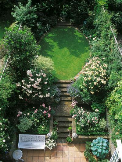 Buja növényzetű udvar - kert / udvar ötlet, klasszikus stílusban