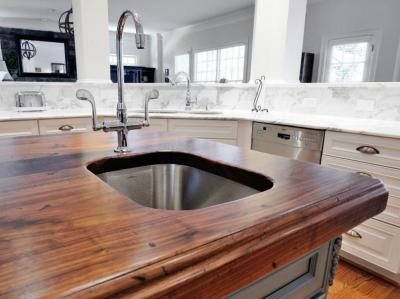 Gyönyörű, igényes konyhapult - konyha / étkező ötlet, klasszikus stílusban