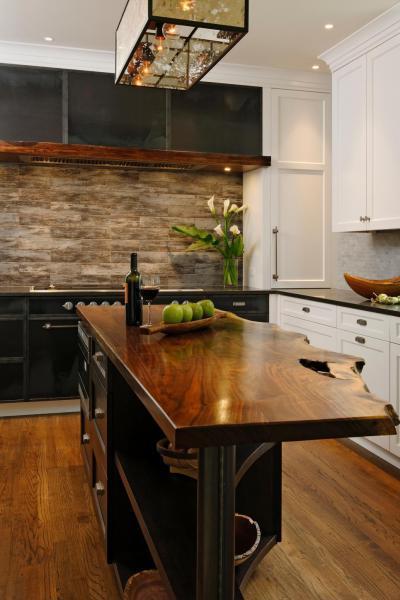 Sziget pult fából - konyha / étkező ötlet