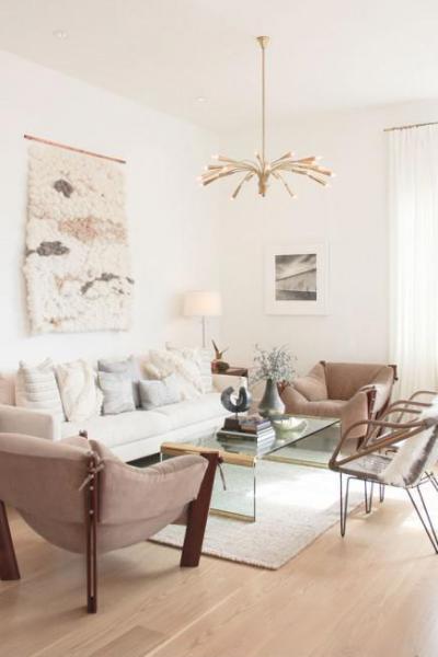 Pasztell színű nappali - nappali ötlet, modern stílusban